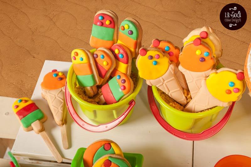 biscotti su stecco a forma di gelato
