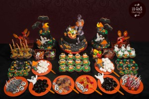 candy buffet di halloween
