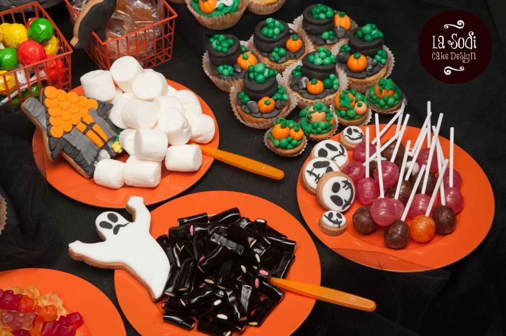 particolare del candy buffet con le caramelle