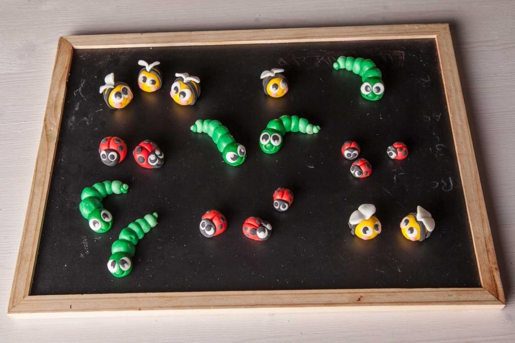 insetti di zucchero colorati