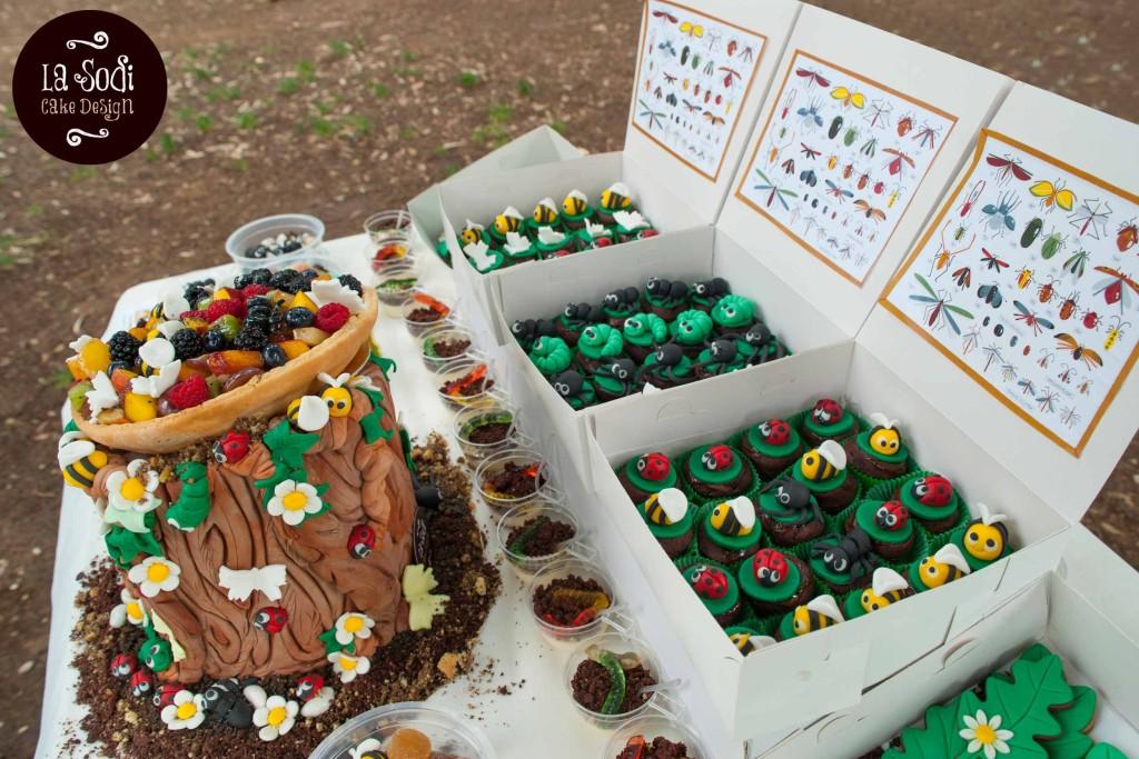 cupcakes al cioccolato decorati con animaletti