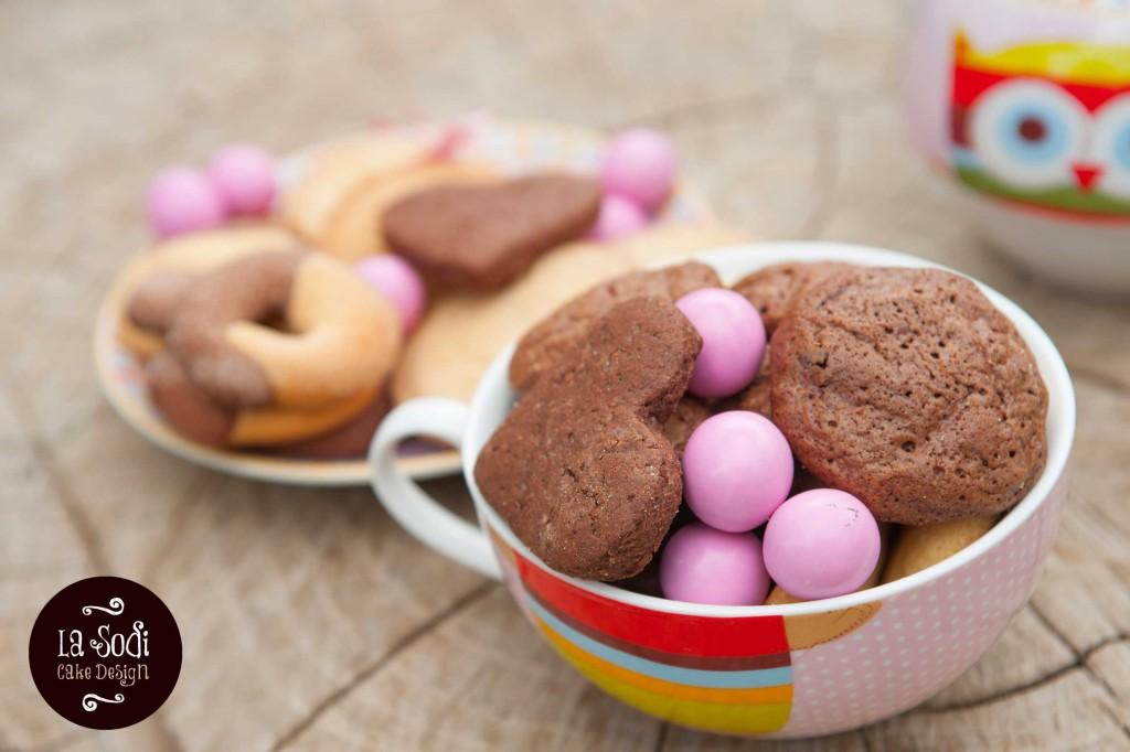 particolare dei biscotti al doppio cioccolato