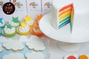 rainbow cake, torta arcobaleno