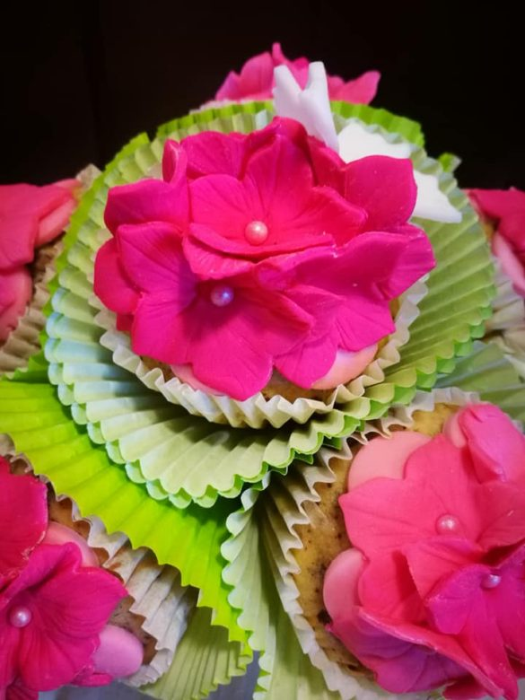 Laboratorio di cake design: il bouquet di cupcakes